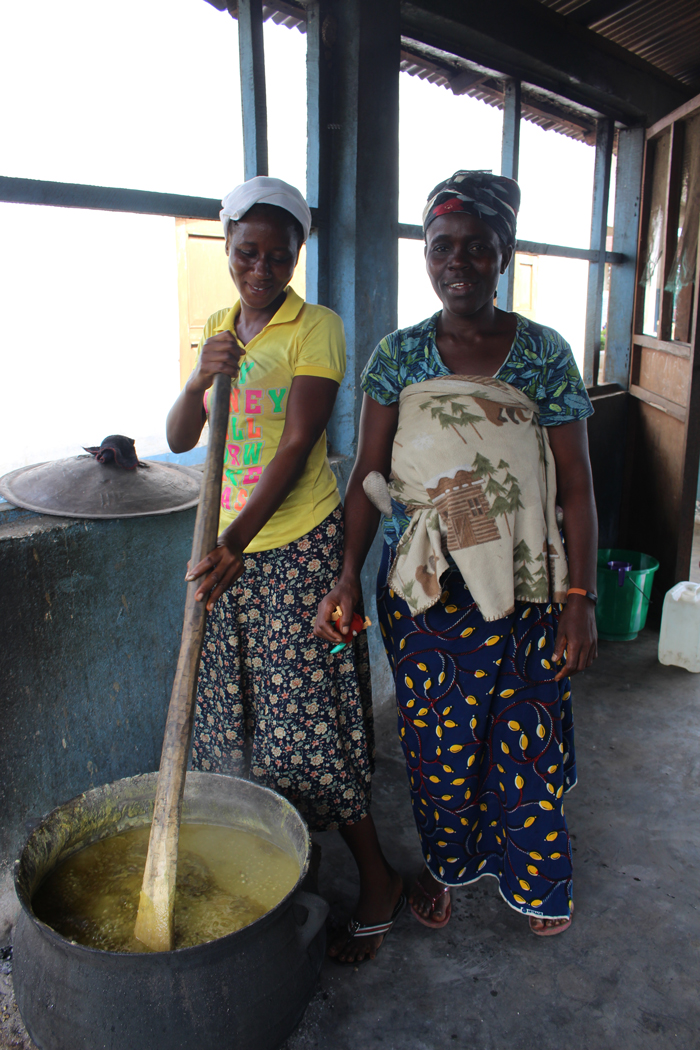 Bendu Kai is a volunteer cook at Vincent Ward Public School in Bomi County, Liberia